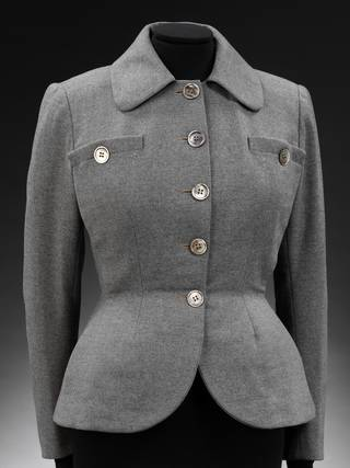 'The New Look' jacket by Christian Dior, 1947, Paris. Museum no. T.109-1982. © Victoria and Albert Museum, London